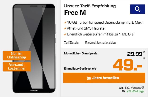 Huawei Mate 10 Pro mit o2 Free M bei Saturn