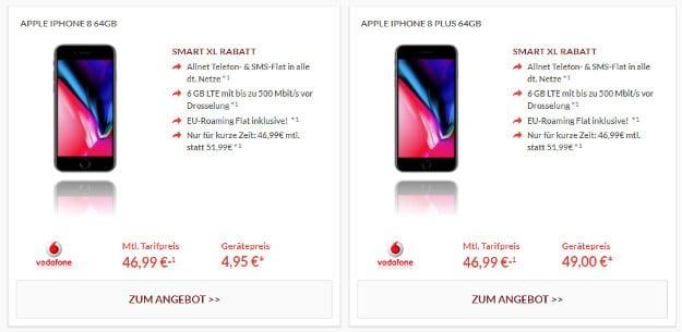 iPhone 8 + Vodafone Smart XL Pb24