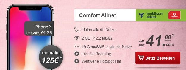 iPhone X + Vodafone Comfort Allnet (md)