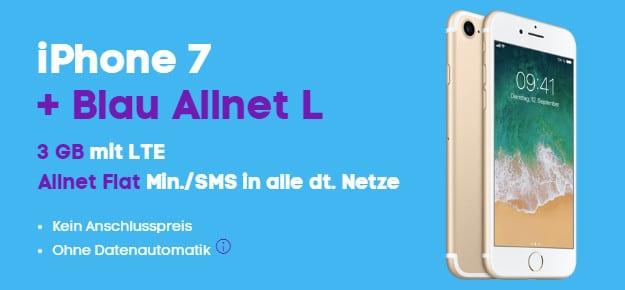 iPhone 7 + Blau Allnet L