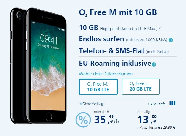 Apple iPhone 7 + o2 Free M bei o2