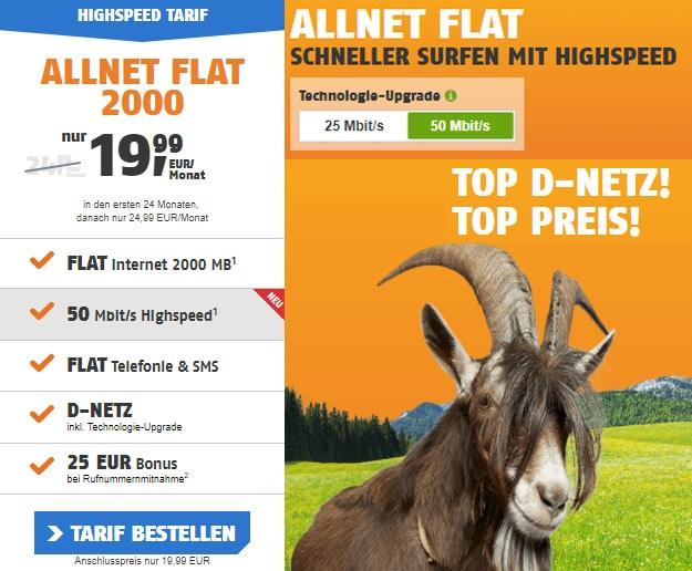 klarmobil Allnet Flat 2000 mit LTE im besten Telekom-Netz