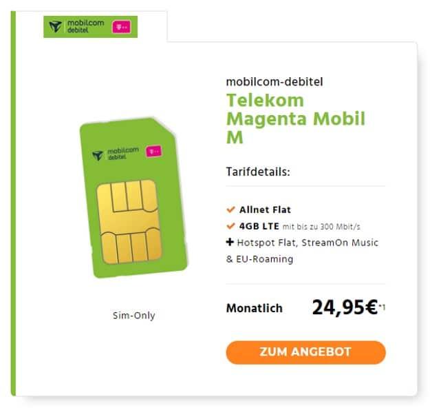 Telekom Magenta Mobil M (mobilcom-debitel) bei Handyflash