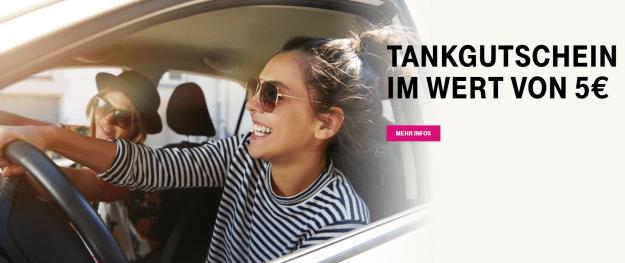 Telekom Mega-Deal 5 € Tankgutschein
