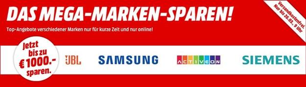 MediaMarkt Mega-Marken sparen: Satte Rabatte auf Produkte von JBL, Siemens, Samsung