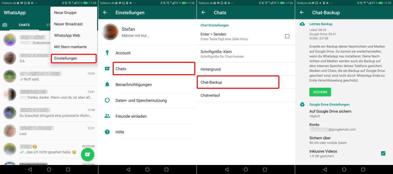 whatsapp verlauf von ios auf android