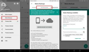 Chat-Backup bei Threema (Android)