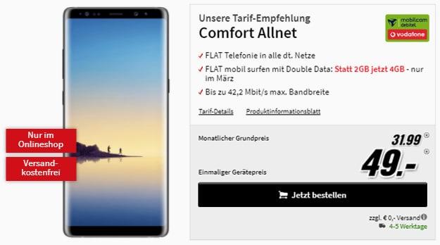 Samsung Galaxy Note 8 Comfort Allnet im Vodafone-Netz