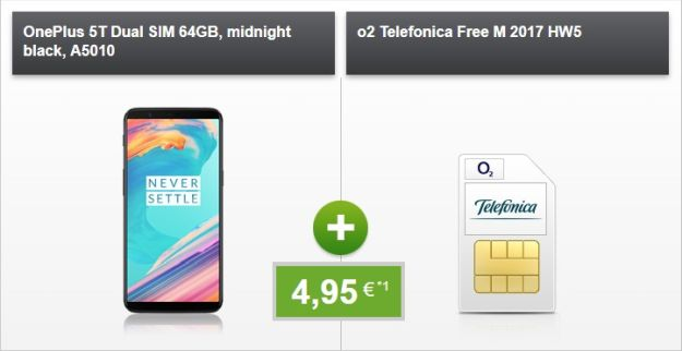 OnePlus 5T + o2 Free M bei modeo