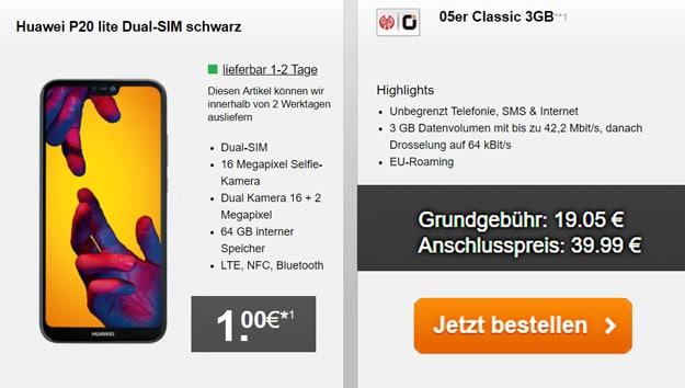 Huawei P20 Lite mit otelo Mainz 05 Tarif M Classic