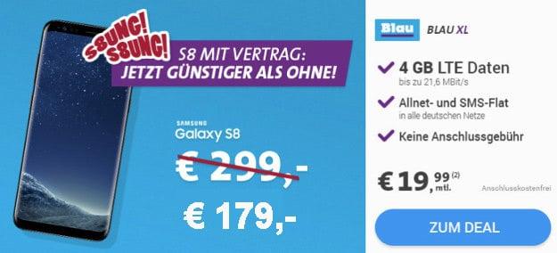 Samsung Galaxy S8 mit Blau Allnet XL
