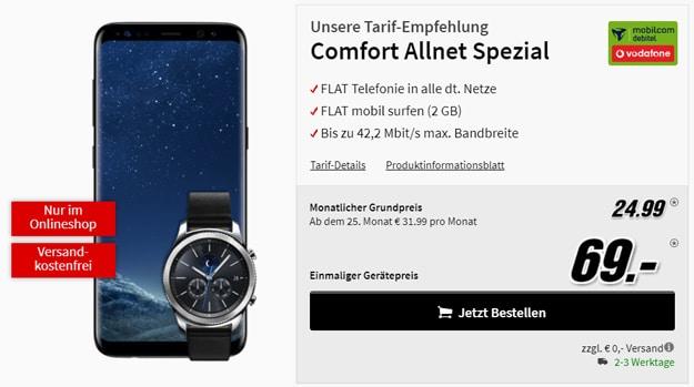 Samsung Galaxy S8 mit Vodafone Comfort Allnet