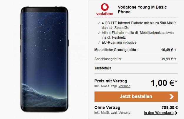 Samsung Galaxy S8 Vodafone Young M M Gigakombi Eff Kostenlos