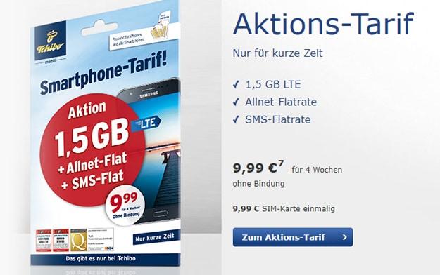 Tchibo mobil Smartphone Aktions-Tarif