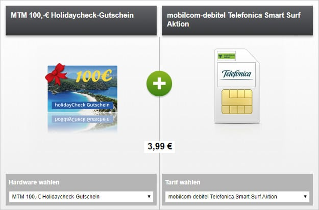telefpnica smart surf md + holidaycheck gutschein