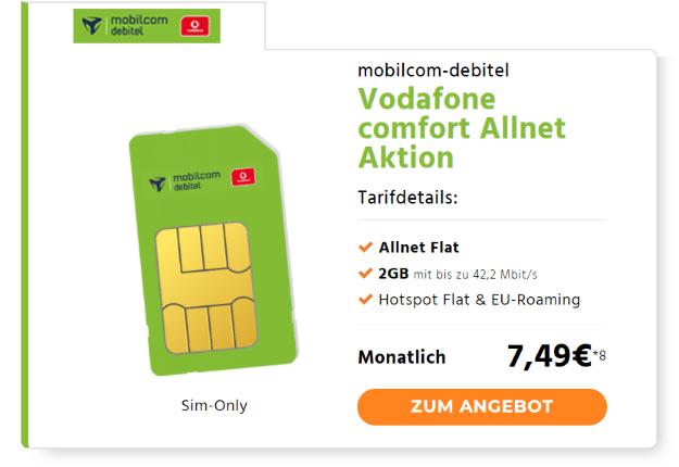 Vodafone comfort Allnet (md) Handyflash