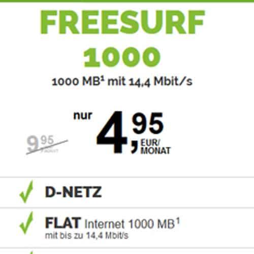 Freesurf Ab 495 Mtl Bis Zu 5 Gb 9 Centsms Vodafone Netz