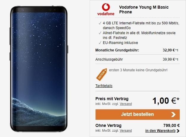 Samsung Galaxy S8 + Vodafone Young M bei LogiTel