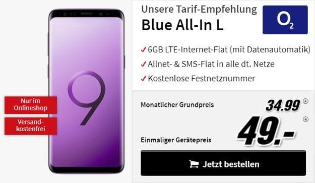 Samsung Galaxy S9 S9 Plus O2 Blue All In L
