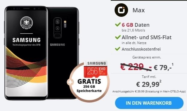 Samsung Galaxy S9 Plus + otelo Allnet-Flat Max bei Sparhandy