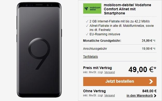 Samsung Galaxy S9 + Vodafone Comfort Allnet (md) bei LogiTel