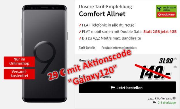 Samsung Galaxy S9 + Vodafone Comfort Allnet (md) bei MediaMarkt