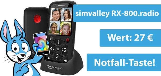 simvalley RX-800.radio 5-Tasten-Senioren-Handy von Pearl im Gewinnspiel