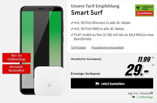 Huawei Mate 10 Lite + Huawei Körperwaage AH100 + Vodafone Smart Surf (md) bei MediaMarkt