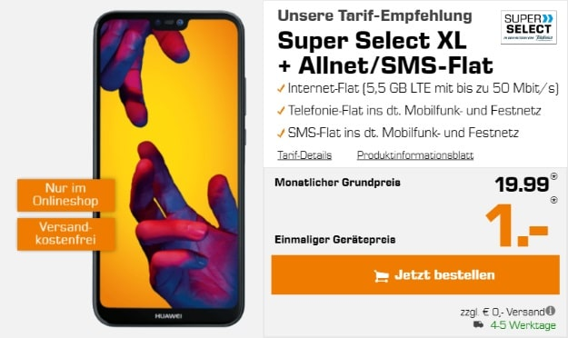 Huawei P20 Lite + Super Select XL bei Saturn