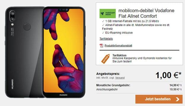 Huawei P20 Lite mit Vodafone Flat Allnet Comfort (md)