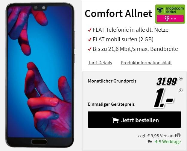 Huawei P20 + mobilcom-debitel Comfort Allnet (Telekom) bei MediaMarkt