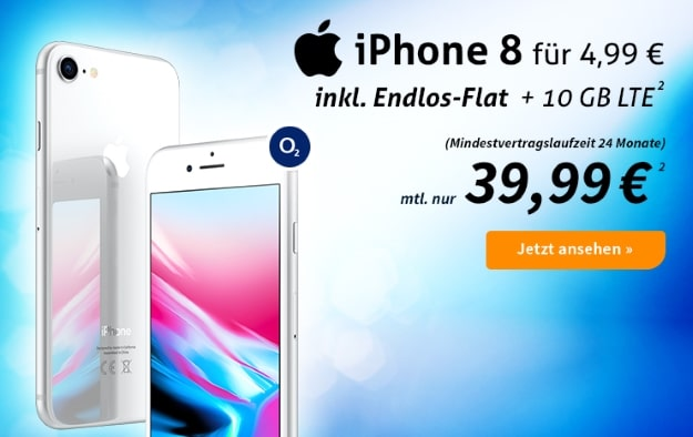Apple iPhone 8 + o2 Free M bei Preisboerse24