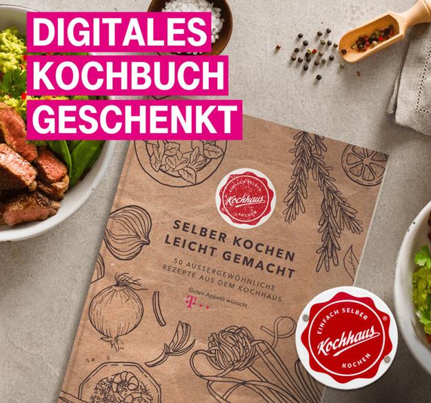 Telekom Mega-Deal mit gratis Kochbuch von Kochhaus
