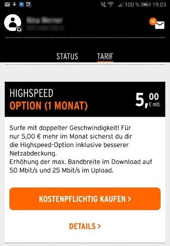 otelo highspeed funktion
