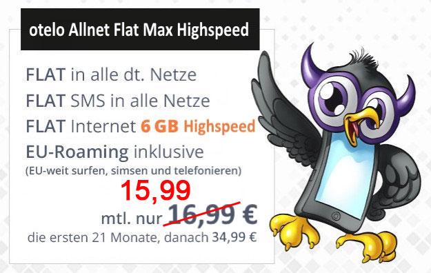 otelo Allnet Flat Max Highspeed