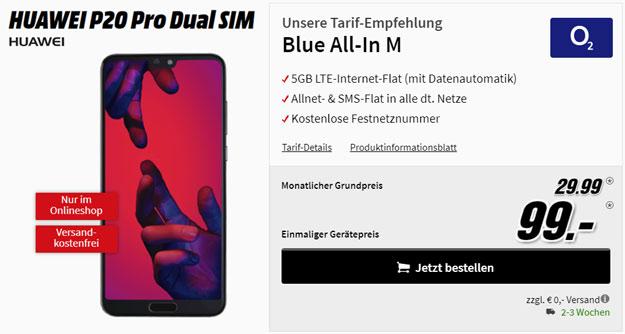 Huawei P20 Pro mit o2 Blue All-In M günstig kaufen