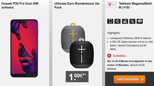 Huawei P20 Pro Dual-SIM mit Telekom Magenta Mobil M