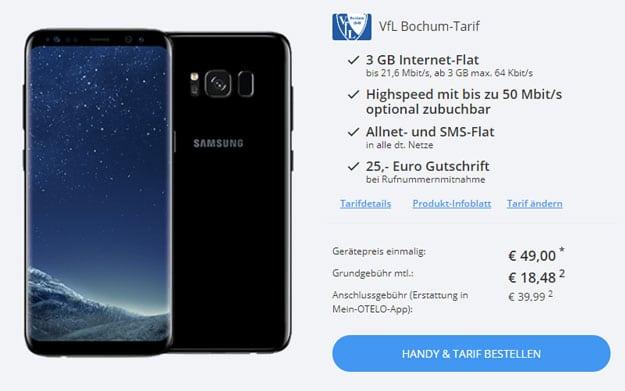 Samsung Galaxy S8 + VfL Bochum Tarif