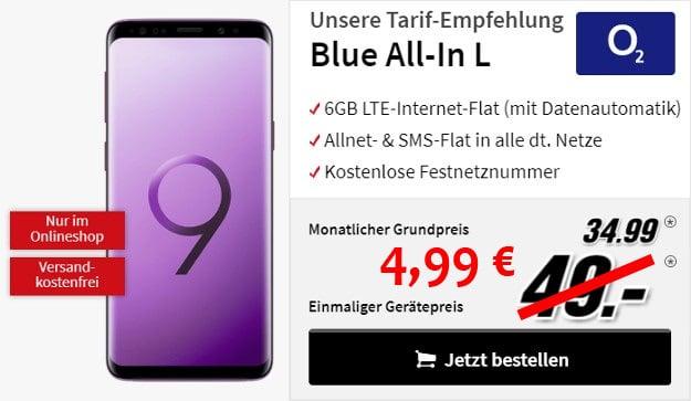 Samsung Galaxy S9 mit o2 Blue All-In L
