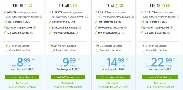 winSIM LTE-ALl-Tarife