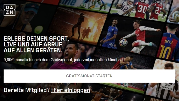 DAZN Streaming für alles rund um den Sport