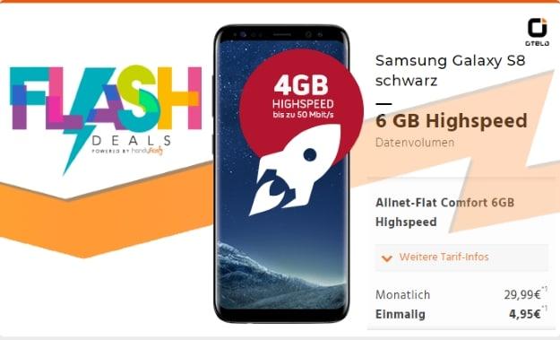 Samsung Galaxy S8 + otelo Allnet-Flat Comfort Speed