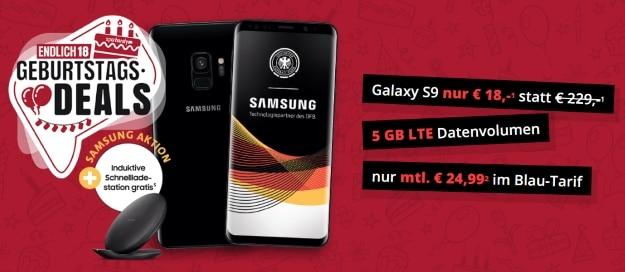Samsung Galaxy S9 (Plus) + Blau Allnet XL bei Sparhandy