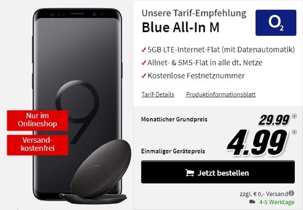 Samsung Galaxy S9 + o2 Blue All-in M bei MediaMarkt