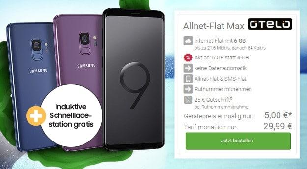 Samsung Galaxy S9 + otelo Allnet-Flat Max bei DeinHandy