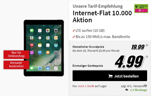 ipad 2017 lte zur 10 gb lte md internet flat. Black Bedroom Furniture Sets. Home Design Ideas