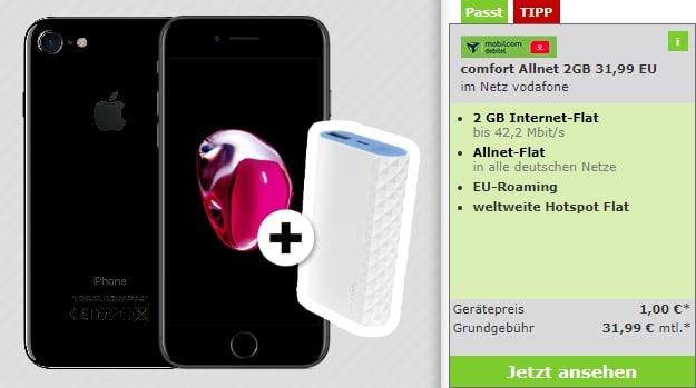 Apple iPhone 7 32GB + Akkupack + Vodafone comfort Allnet bei mobildiscounter
