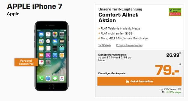 Apple iPhone 7 mit Vodafone Comfort Allnet (md) günstig buchen