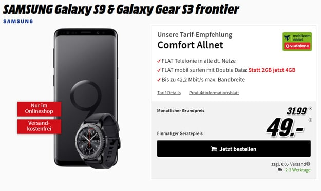 Galaxy S9 / S9 Plus + Vodafone Comfort Allnet (md)