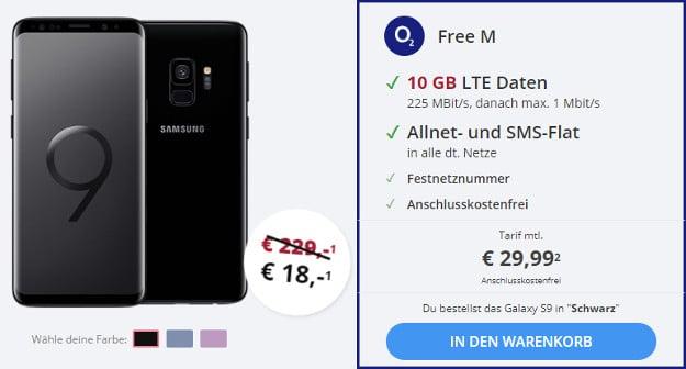 Samsung Galaxy S9 O2 Free M Ab Effektiv 974 Pro Monat